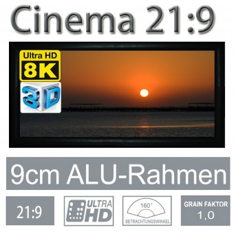 21:9 fixed frame screen 9cm framewidth RX-Serie