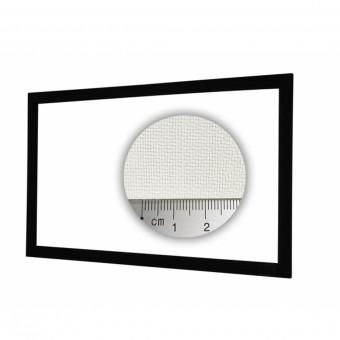 16:9 fixed frame screen 9cm framewidth HiViWhite Cinema 4K SD acoustics