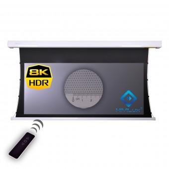 16:9 tab-tensioned motorised screen HiViGrey Cinema 5D MP/HDR acoustic transparent