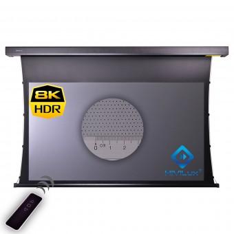 16:9 Tension Motor Leinwand HiViGrey Cinema 5D/HDR MP Akustik