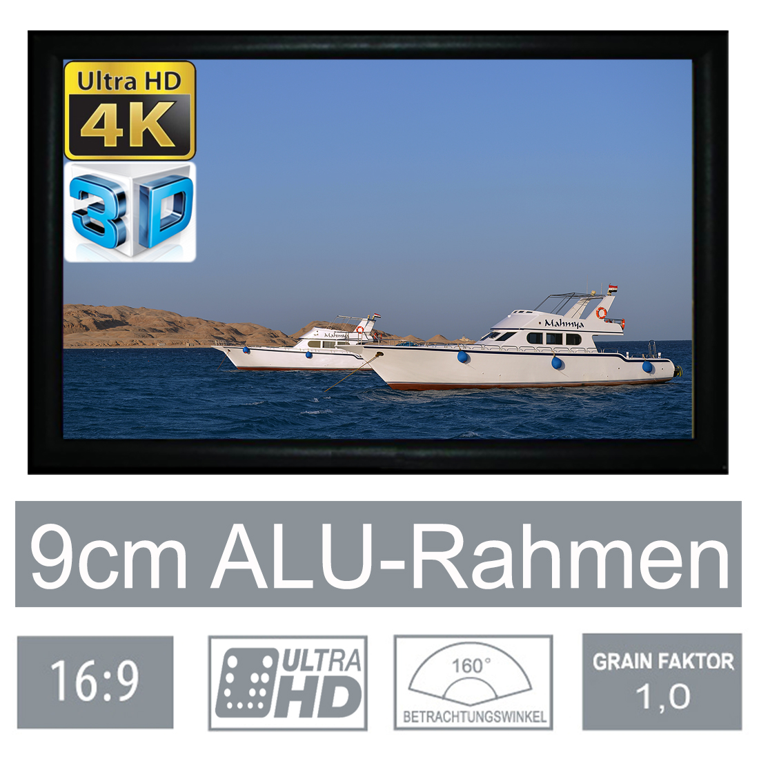 HiViLux | 16:9 fixed frame screen 9cm framewidth RX-Serie | HIViLux GmbH